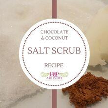 chocolate coconut salt scrub