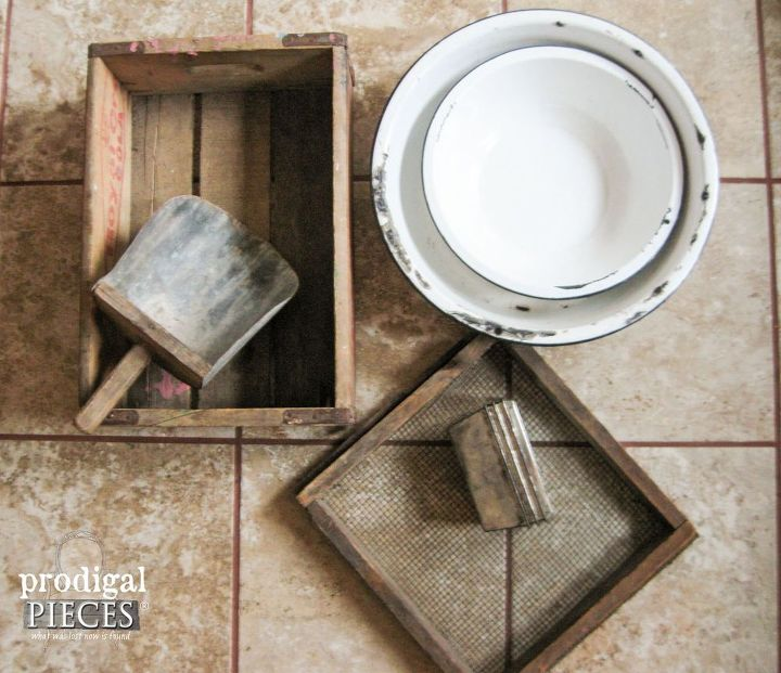 Repurposed flea market finds into farmhouse decor hometalk for Diy flea market projects