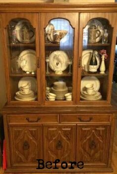 how to create 2 makeovers from 1 china cabinet, painted furniture, repurposing upcycling