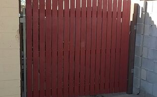 red or white, fences, painting