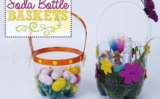 plastic soda bottle easter baskets, crafts, easter decorations, repurposing upcycling, seasonal holiday decor