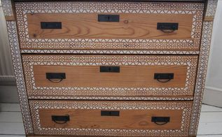 putting pattern on a pine chest of drawers when to stop, painted furniture