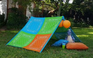 make a collapsible play tent for the kids, entertainment rec rooms, how to, outdoor furniture