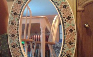 tiled mosaic mirror, home decor