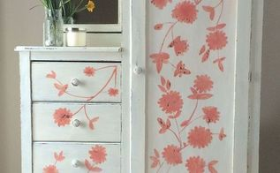 hand painting flowers on furniture, chalk paint, painted furniture
