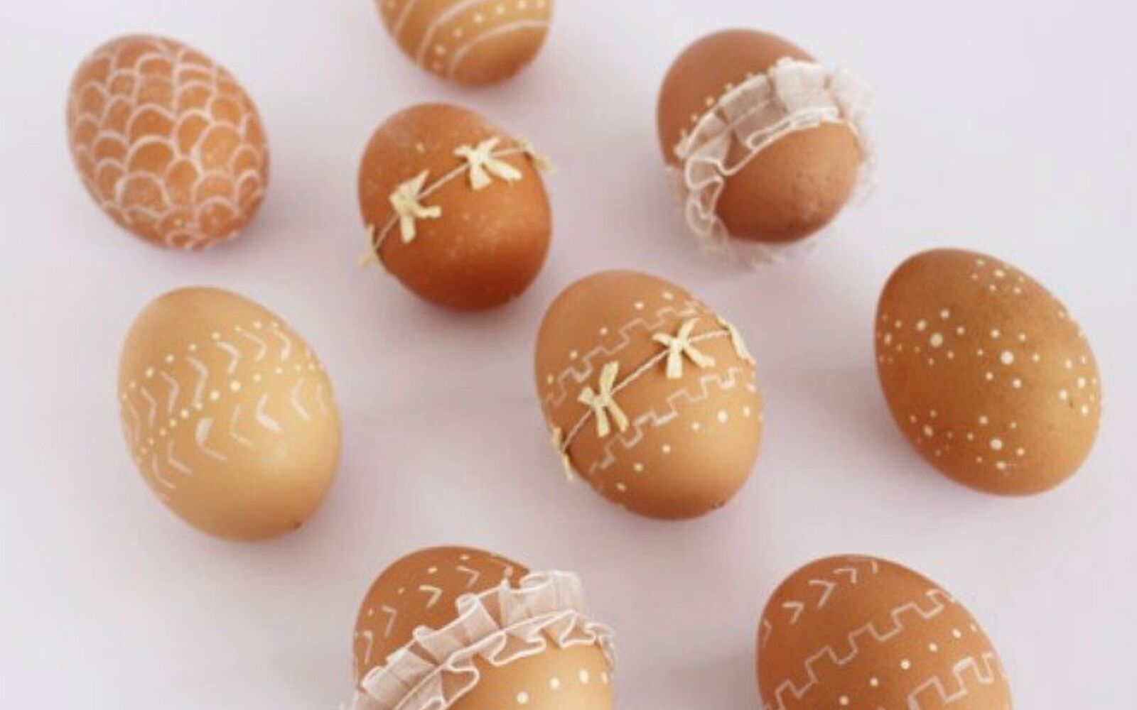 s 23 totally different ways to decorate real eggs this easter, crafts, easter decorations, Add cute neutral toned embellishments