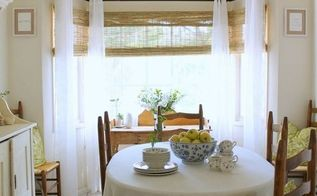 bay window makeover with bamboo shades, dining room ideas, diy, home decor, window treatments, windows