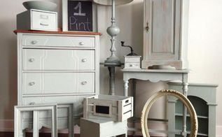 how far does country chic paint go, painted furniture