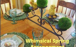 whimsical spring arrangements, easter decorations, seasonal holiday decor