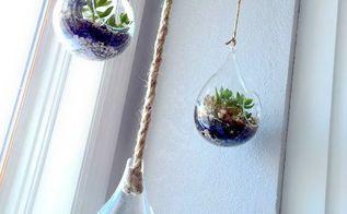 diy hanging globe and geo terrariums, diy, gardening, home decor, succulents, terrarium