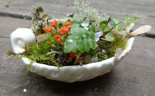 miniature fairy garden ship, gardening