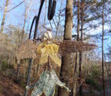 altered art angel fairy dragonfly, crafts