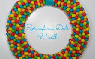 dots easter wreath, crafts, easter decorations, seasonal holiday decor, wreaths