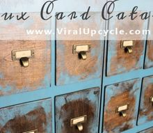 card catalog with faux treatment, painted furniture