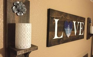 diy rustic wood wall sconce, crafts, wall decor, woodworking projects