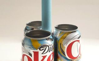 up cycle soda cans into a craft caddy, crafts, repurposing upcycling