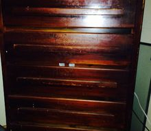 q old dresser re do, painted furniture, painting wood furniture, This old dresser has been drug around with me for years I want to paint it lighter
