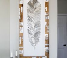 how to paint feather art, crafts, wall decor