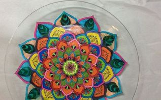 adult coloring book turned beautiful plate, crafts, decoupage