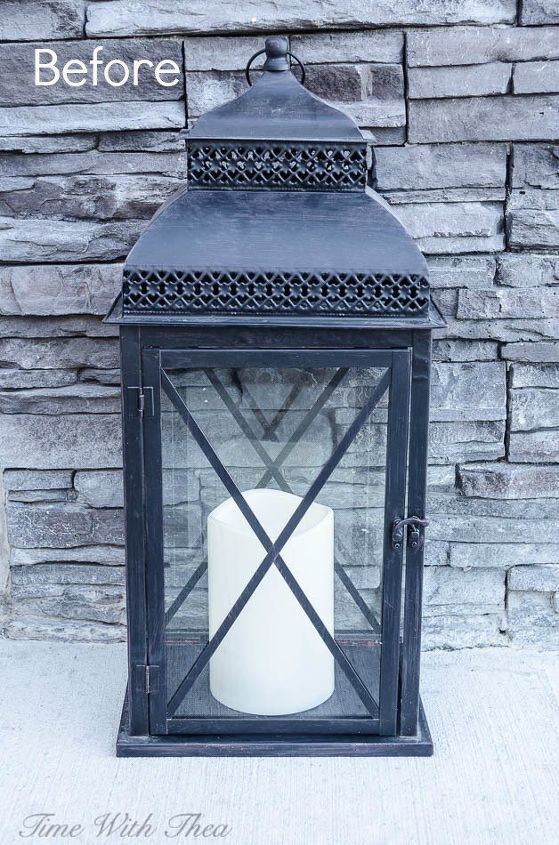 Decorate an outdoor lantern for spring with these easy for Decorating outdoor lanterns
