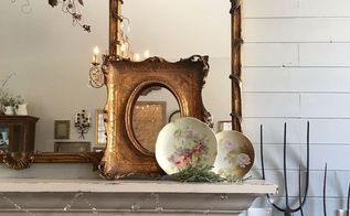 transitioning the mantel to spring, fireplaces mantels, home decor, seasonal holiday decor, Rhiann Wynn Nolet