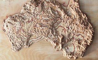 3d maps cut in wood, wall decor