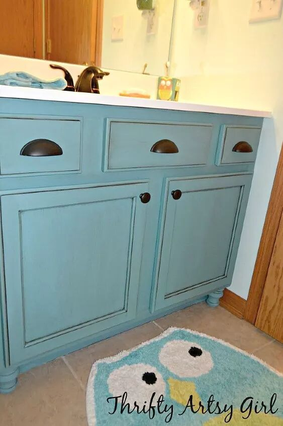 11 low cost ways to replace or redo a hideous bathroom - How to redo bathroom cabinets for cheap ...