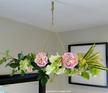 hanging floral chandelier diy, crafts, how to, wreaths