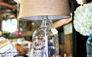 how to make a vintage bottle lamp, how to, lighting, repurposing upcycling