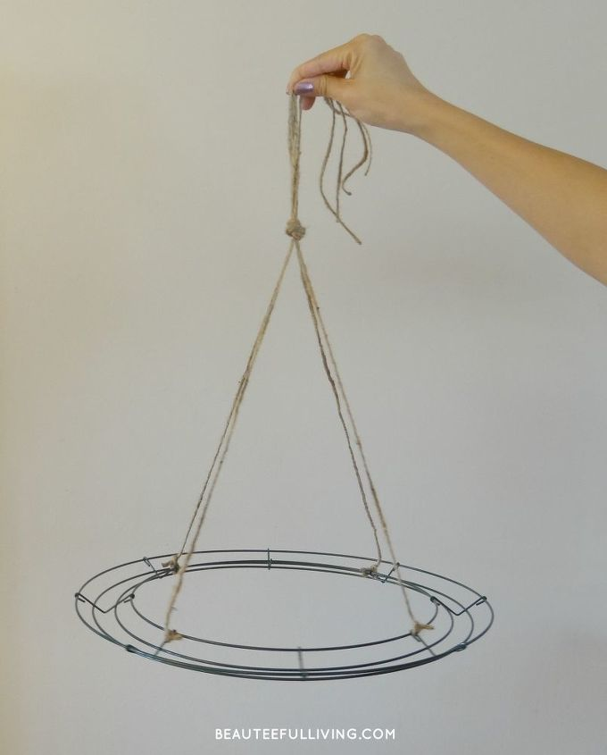 Hanging floral chandelier diy hometalk - Wire chandelier diy ...