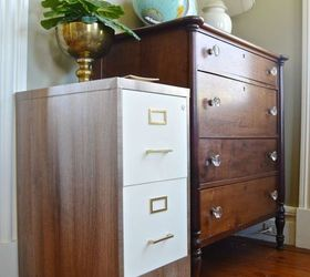 file cabinet flip chalk paint home office organizing painted furniture repurposing