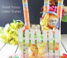 picket fence easter basket, crafts, easter decorations, seasonal holiday decor