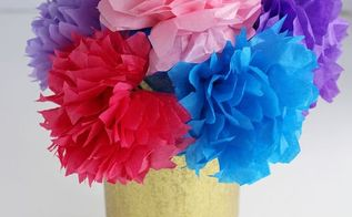 tissue paper flowers, crafts, seasonal holiday decor