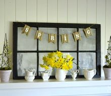 simple spring mantel in 5 easy steps, fireplaces mantels, home decor, seasonal holiday decor