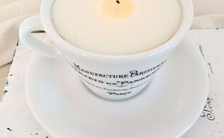 how to make a scented soy candle in a french coffee cup, crafts, how to