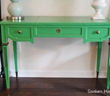 painting vintage furniture green, painted furniture
