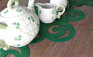 st patrick s day table runner no sew dollar tree craft, crafts, seasonal holiday decor