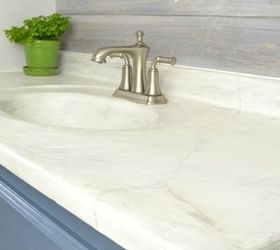 Get A Marble Style Look By Layering Concrete