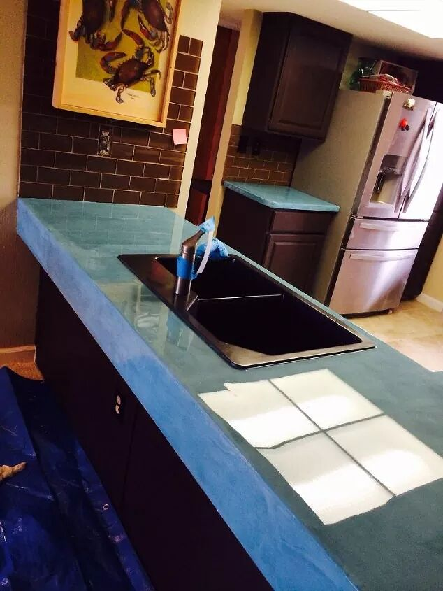 Change the color with tinted cement. 13 Ways to Transform Your Countertops without Replacing Them
