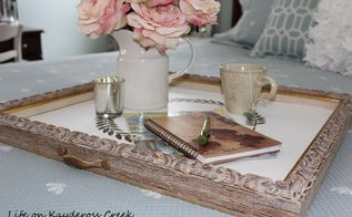 an old frame becomes a new tray, chalk paint, crafts, repurposing upcycling