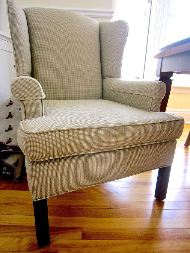 Diy Wing Back Chair Reupholster Hometalk