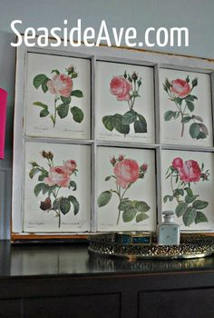 old window to framed art, repurposing upcycling, wall decor, window treatments