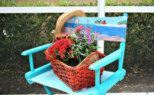 in search of the perfect florida chair and planter, chalk paint, container gardening, gardening, painted furniture, The Transformation