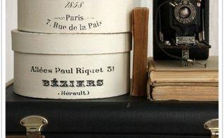 create your own faux french hatbox, chalk paint, crafts