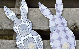 easy paper bunny treat bags, crafts, easter decorations, home decor