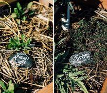 easy rock garden labels, crafts, gardening