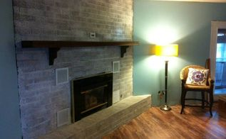 the 2 hour and 20 fireplace makeover, fireplaces mantels, painting