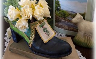lucky leprechaun shoe st patrick s recycled diy, container gardening, crafts, repurposing upcycling, seasonal holiday decor