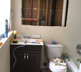 Delightful Small Master Bathroom Budget Makeover, Bathroom Ideas, Diy, Home Improvement