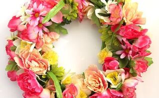 diy 344 flower wreath for 15, crafts, wreaths
